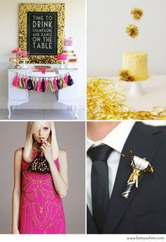 Inspiration: A Foil and Fuchsia New Year