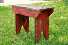 Primitive bench Distressed bench Farm table by LynxCreekDesigns Farmhouse Living Room Furniture, Farmhouse Bench, Primitive Furniture, Diy Pallet Furniture, Rustic Furniture, Primitive Decor, Timber Furniture, Lounge Furniture, Country Primitive