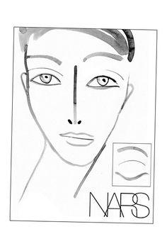 51 best blank face charts images on pinterest makeup face charts rh pinterest com