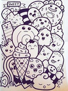 Pin by mariasara on drawing ideas in 2019 doodle art, art drawings, doodles. Doodle Art Letters, Cute Doodle Art, Doodle Art Designs, Doodle Art Drawing, Doodle Art Journals, Cool Art Drawings, Doodle Sketch, Kawaii Drawings, Easy Drawings