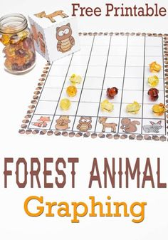 Animal Graphing Free Printable This free forest animal graphing activity is a fun way to learn about graphing with your kids!This free forest animal graphing activity is a fun way to learn about graphing with your kids! Graphing Activities, Math Activities For Kids, Autumn Activities, Preschool Learning, Preschool Spanish, Apple Activities, Fall Preschool, Preschool Lessons, Numeracy