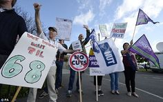 A million public sector workers go on strike over pay and pensions