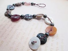 Upcycled Recycled Vintage Button Bracelet by LittleBitsOFaith, $15.00