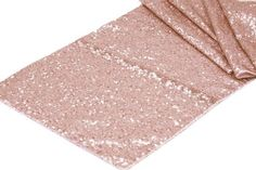 Rose Gold Sequin table runner. Beautiful for all! Fantastic for any wedding, event, or home decor. These beautiful sequin table runners shimmer with delight! T