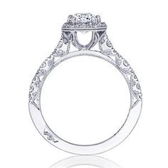 TACORI Halo 18K - White Gold Diamond Engagement Ring HT2560EC75X55 #ArthursJewelers