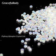 New Arrivals 0.6-0.8mm 15g/pack 15g/box Clear AB Caviar Mini Glitter Beads Manicures Decoration Nail Art Rhinestone