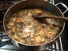 Chicken of the woods soup