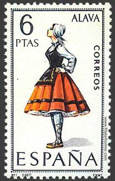 Spain Stamp - Regional costume Álava