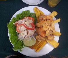 Ceviche with Jalea, two types of prepared fish