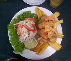 Ceviche con jalea, comida peruana