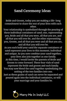 Unity Sand Ceremony scripts and ideas for your wedding. Wedding Readings, Wedding Ceremony, Our Wedding, Irish Wedding, Rustic Wedding, Unity Sand, Unity Ceremony, Wedding Inspiration, Wedding Ideas