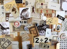 Neutral Inspiration Kit*Vintage Paper Ephemera Pack*Scrapbook, Mixed Media, Collage, Junk Journal Supplies