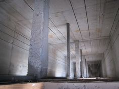 The shaft for one of the many elevators of InTempo (Photo Credit: Raquel López)
