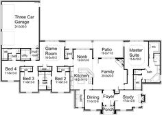 3298 SF - House Plans by Korel Home Designs.  Expand Game Room