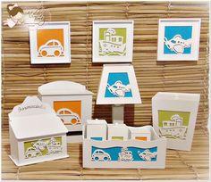 Kit Bebê Higiene Meios de Transportes | ATELIER BELLY - PEÇAS EM MDF | Elo7