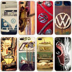 G370 Vintage For Volkswagen Vw Transparent Hard Thin Case Cover For Apple iPhone 4 4S 5 5S SE 5C 6 6S 7 8 X Plus