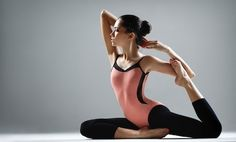 posture stretches! also helps you correct your lower belly pooch!