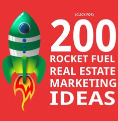 Look at these 200 Real Estate Marketing Ideas! They will rocket fuel your performance to the top. Both internet and traditional marketing methods are discussed.