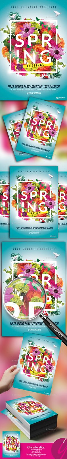 Spring Break Party Flyer  Designing  Creating