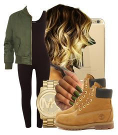 """Untitled #277"" by gabb-slayy ❤ liked on Polyvore featuring Michael Kors, WearAll and Timberland"