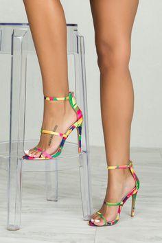 Kaleidoscope Triple Strap Heel