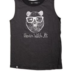 Bear With It Muscle Tank by Mini and Maximus