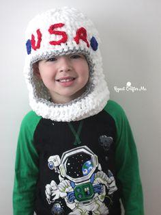 Crochet Astronaut Helmet - Repeat Crafter Me