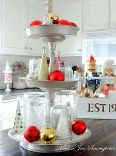 I MUST make this tiered tray!!!! dollar store pans..