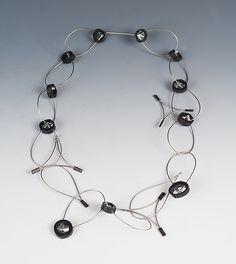 Jada Necklace: Kathleen Nowak Tucci: Steel & Rubber Necklace - Artful Home