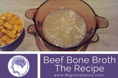 What is the best food for migraine? Recover faster with these new migraine food ideas. Foods For Migraines, Migraine Diet, Gluten Free Recipes, My Recipes, Beef Bone Broth, Beef Bones, Good Food, Yummy Food, Safe Food