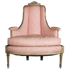 Painted Louis XVI Style Corner Chair Creator: Attributed to Maison Jansen; 1stdibs.com