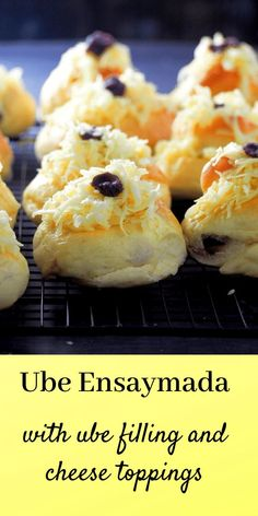 Ube Ensaymada – Woman Scribbles Soft, delicate and buttery ube ensaymada are filled with creamy ube and topped with lots of cheddar cheese. It is super good! Ube Recipes, Fun Baking Recipes, Irish Recipes, Seafood Recipes, Dessert Recipes, Bread Recipes, Dessert Ideas, Cooking Recipes, Pinoy Dessert