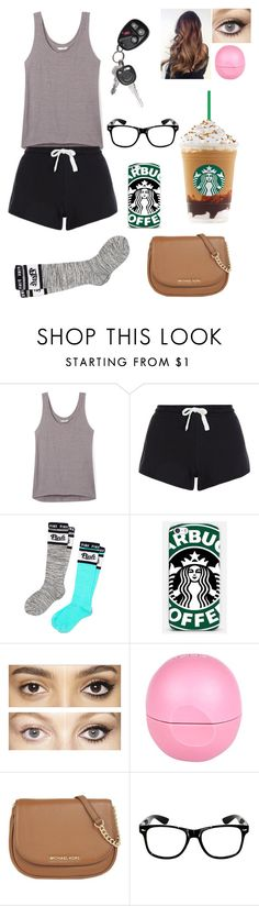 """""""Late night drive to Starbucks"""" by blessed-with-beauty-and-rage ❤ liked on Polyvore featuring Rebecca Minkoff, Victoria's Secret PINK, Samsung, Charlotte Tilbury, River Island, MICHAEL Michael Kors, women's clothing, women, female and woman"""