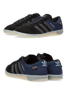 huge discount 70ed3 8def5 adidas Originals Hamburg Tech  Black Blue
