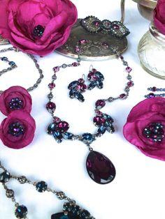 Josephine's Love Crystal Drop Necklace by jillzaleski on Etsy, $225.00