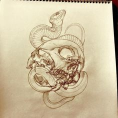 Photo Kunst Tattoos, Skull Tattoos, Print Tattoos, Sleeve Tattoos, Tattoo Design Drawings, Tattoo Sketches, Tattoo Designs, P Tattoo, Snake Tattoo