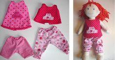 Puppenkleidung, Hose, Kleid / Tunika für (Haba) Puppe 38cm nähen