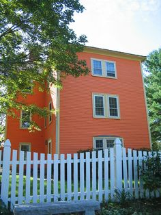 Dover Pumpkin Orange House Back by catchesthelight, via Flickr