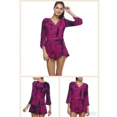 "⚜ JUST ARRIVED!!! ⚜ Fuchsia Tie Dye Romper Beautiful Free Spirited Tie Dye Romper.  Lightweight Gauzy Material - 100% Cotton.  Flowy.  Crochet Trim & Insets.  Pink-Purple. Plunging Neckline with Snap Button.  Shorts Lining.  Side Zipper Close.  Bust 24""-37"" (Flat / Stretched).  Length 30"". Price Firm unless Bundled.  Photos Courtesy of Tea n Cup. Tea n Cup Other"