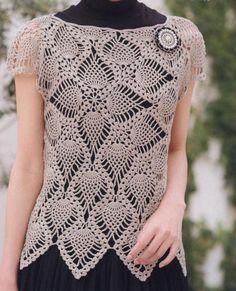 #ClippedOnIssuu da Crochet and knitting Embroidery Shop, Shirt Embroidery, Cross Stitch Embroidery, Embroidery Patterns, Crochet Patterns, Crochet Shirt, Crochet Top, Embroidery Floss Bracelets, Stitch Shirt