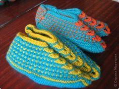 вязание спицами тапочки