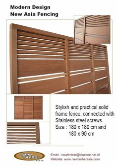 Modern Fences: Finally a modern prefab wood fence