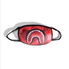 cd5ecabf112 Pretty cool Bape A Bathing Ape Shark Camo Mask Black Mouth Masks BOY Mask  GIRL