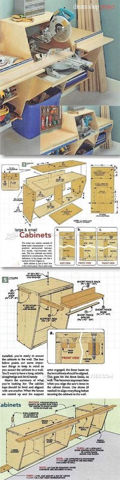 Miter Saw Station Plans - Miter Saw Tips, Jigs and Fixtures   WoodArchivist.com