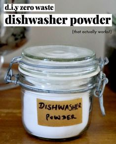 zero waste diy recipe for dishwasher powder that actually works! - Guardian Storage - zero waste diy recipe for dishwasher powder that actually works! zero waste diy recipe for dishwasher powder that actually works! Homemade Cleaning Products, Natural Cleaning Products, Natural Cleaning Recipes, Eco Products, Natural Products, Reduce Waste, Zero Waste, Plastik Recycling, Mason Jar Lighting