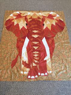 Elephant Abstractions Pattern by Viola Craft. My interpretation of the colors. The gold and rust make it regal.