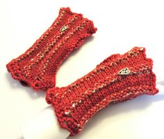 Art Deco Fingerless Gloves Hand Warmers inspired by THE WIFE THE MAID AND THE MISTRESS by Valerie Baber Designs -  IntricateKnits, $45.00
