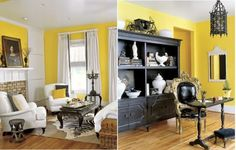 ok, i'm feeling a theme w/these colors. paint armoire/side tbl black or white? not sure...
