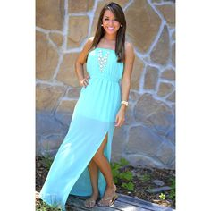 Heartbeat Maxi Dress: Bright Teal | Hope's ($37.99)