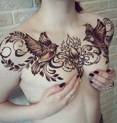 Modern Mehndi Design For Chest